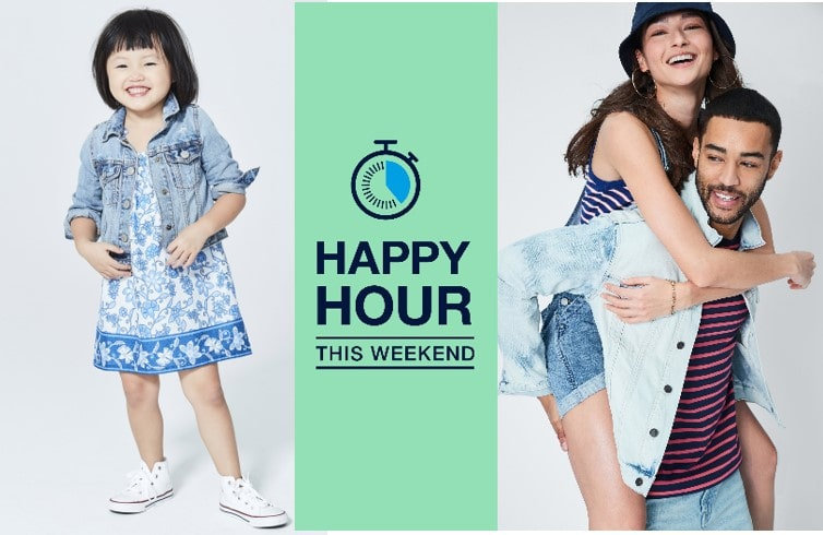 GAP Outlet Happy Hour Is Back – This Weekend