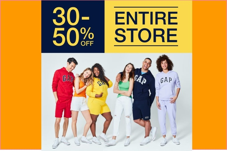 GAP Outlet 30%-50% Off Entire Store