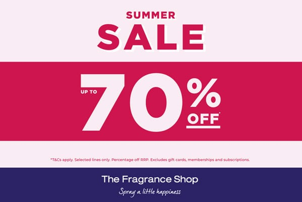 The Fragrance Shop Up to 70% off Summer Sale