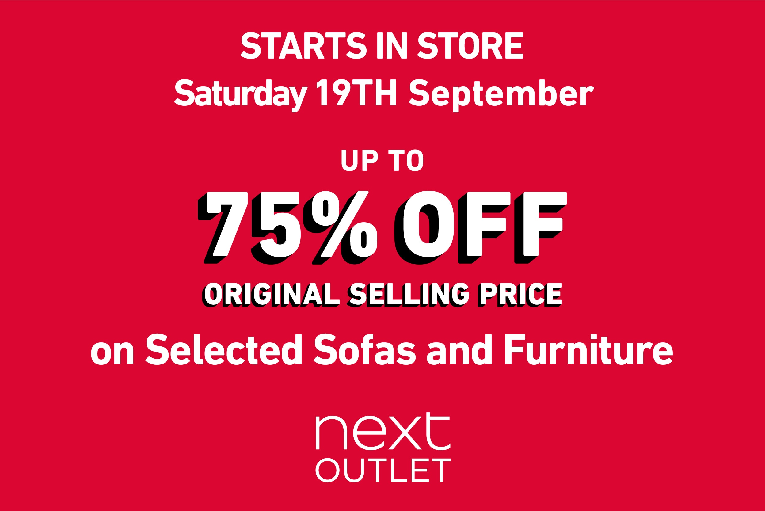 Next Outlet Up to 75% off Sofas and Furniture