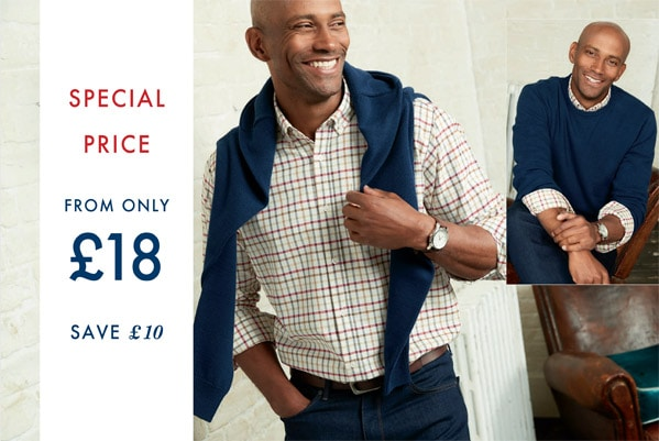 Cotton Traders £10 Off Oxford Shirt & Jumper